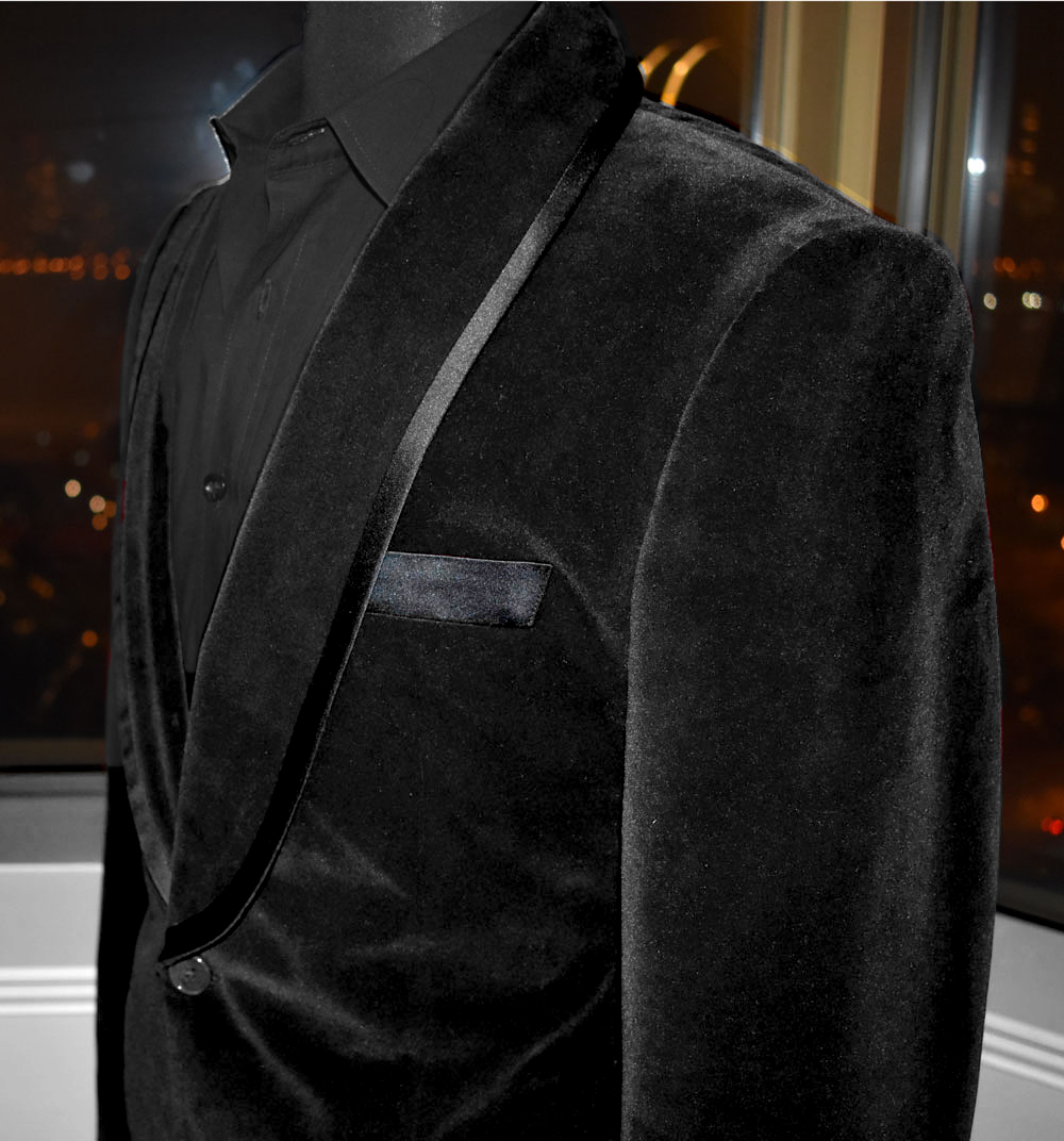 Black Velvet Custom Dinner Jacket Mr Custom Made