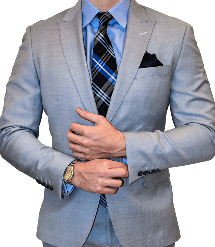 favorable price newest style purchase original Light Grey Custom Suit - Silver Fox