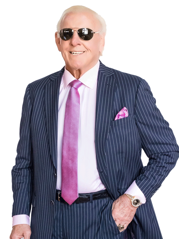 Navy Blue Pinstripe , Ric Flair Collection Three Piece Custom Suit