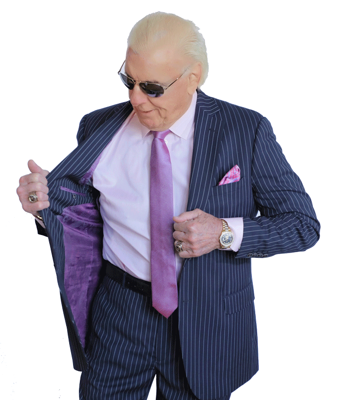 Navy Pinstripe Ric Flair Collection Two Piece Custom Suit Mr
