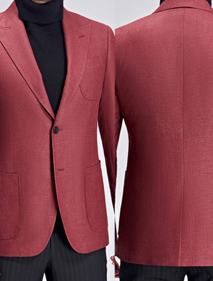 warm red custom sports coat mr custom made