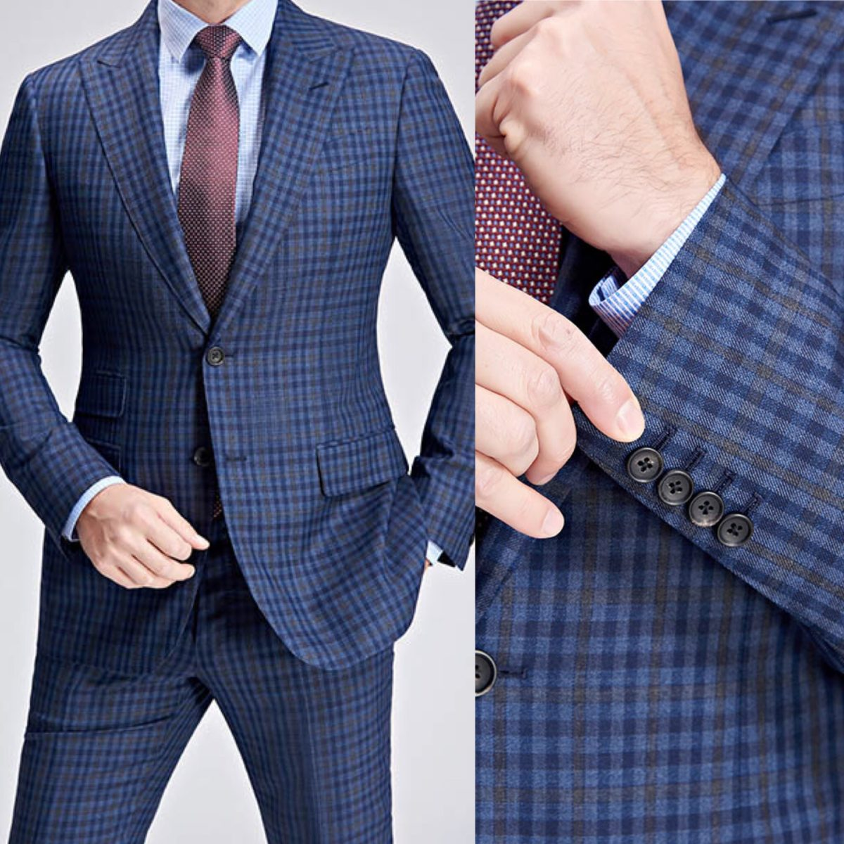 Blue-Brown-Checkered-Custom-Suit